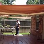 Install Awning in Backyard