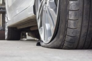 Punctured Tyre in Hamilton