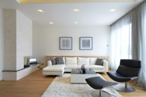 A daylighted living room in Canberra