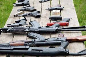A collection of firearms in the U.S.
