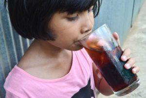 Child Drinking Soda