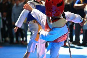 Child Doing Taekwondo