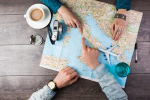 Men planning their travel