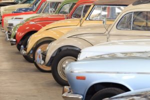 Classic car collections lined up