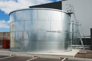 Iron water tank