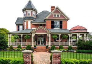 a Victorian house