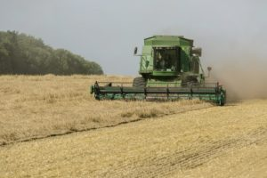 Green Harvester in the Field