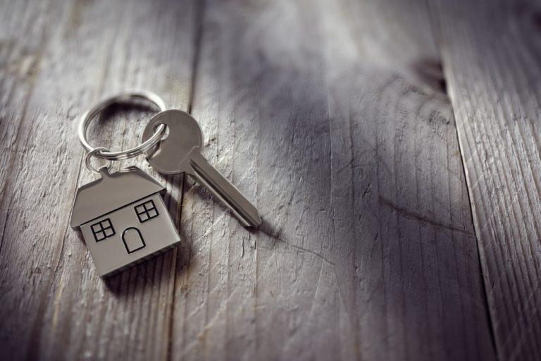 Key with House Keychain