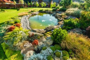 Luxurious backyard landscaping