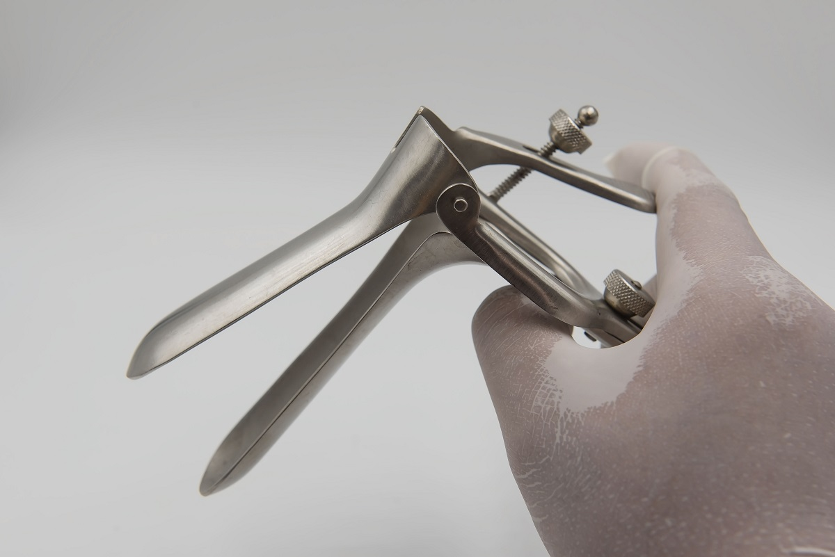 Speculum Held by Hand