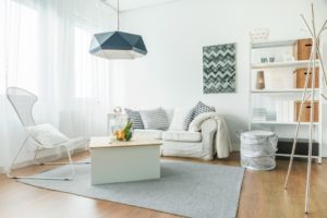 A airy design for a small space