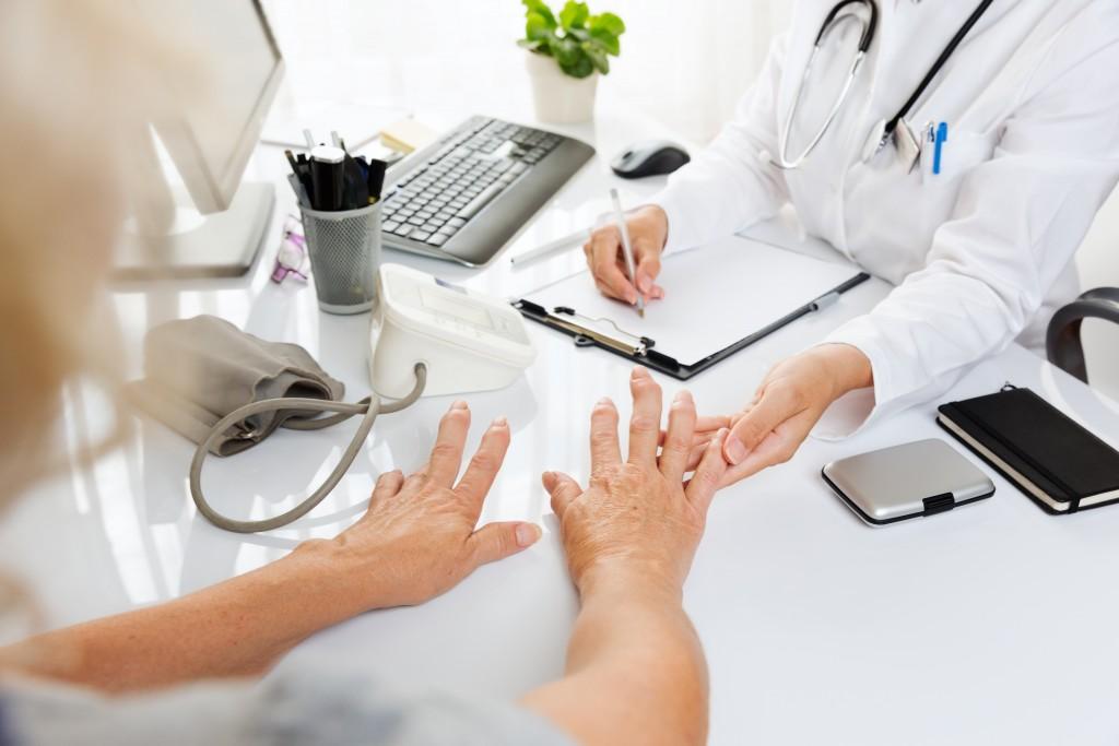 Woman showing symptoms of hepatitis