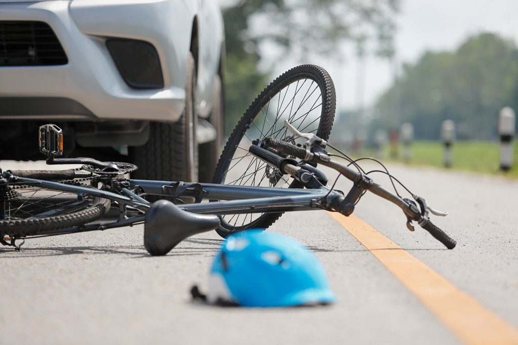 involved in a bicycle accident