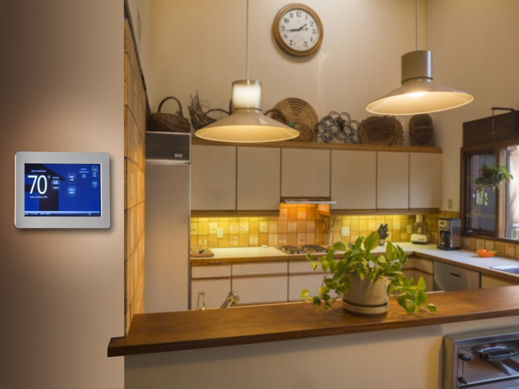 home automation system in the kitchen