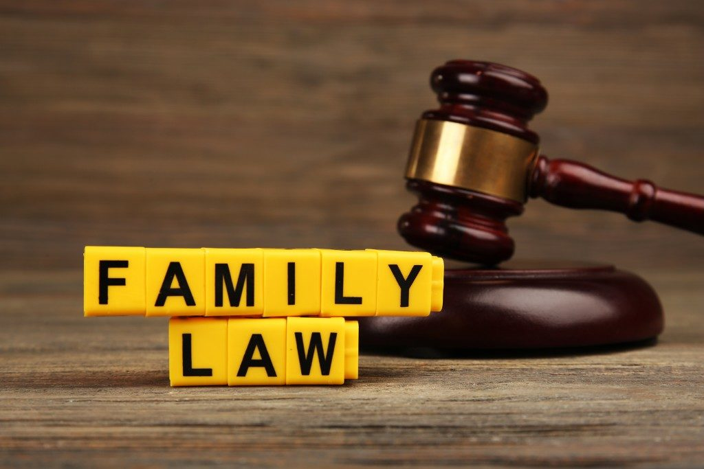 family law on block letters