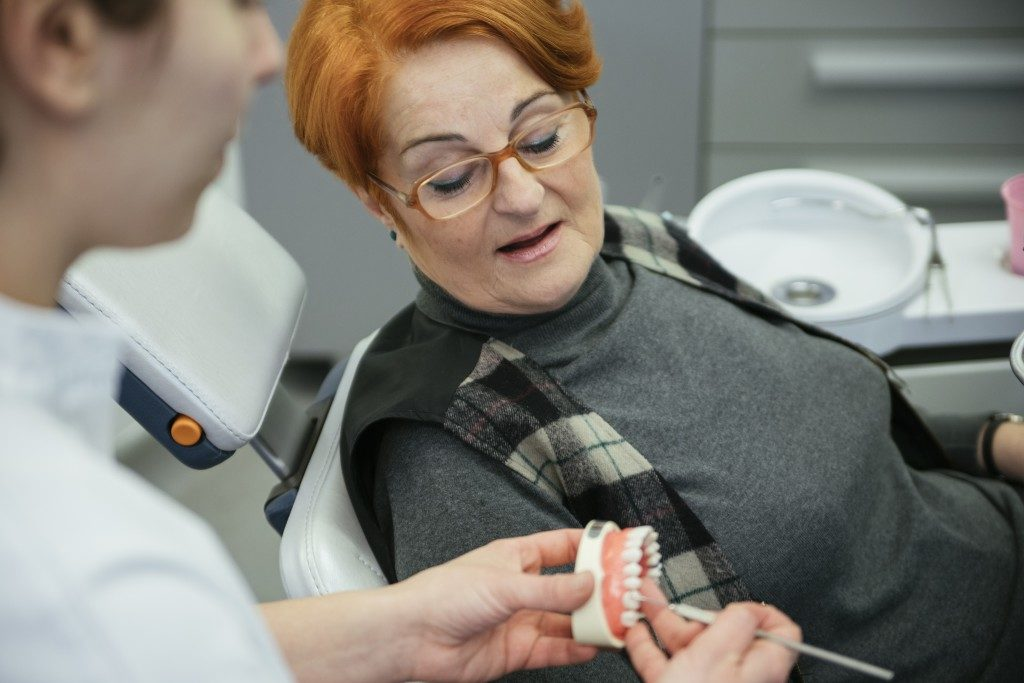 woman during a dental appointment