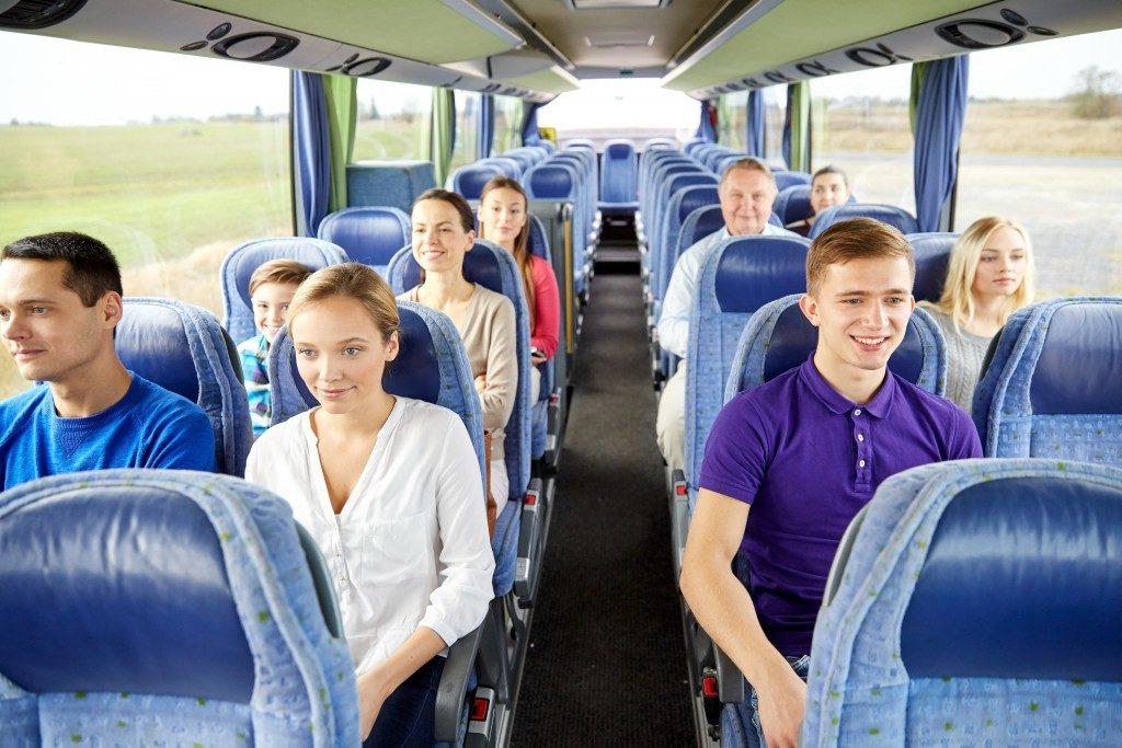 Passengers inside a public bus