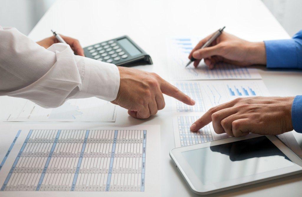 computation of finances and taxes