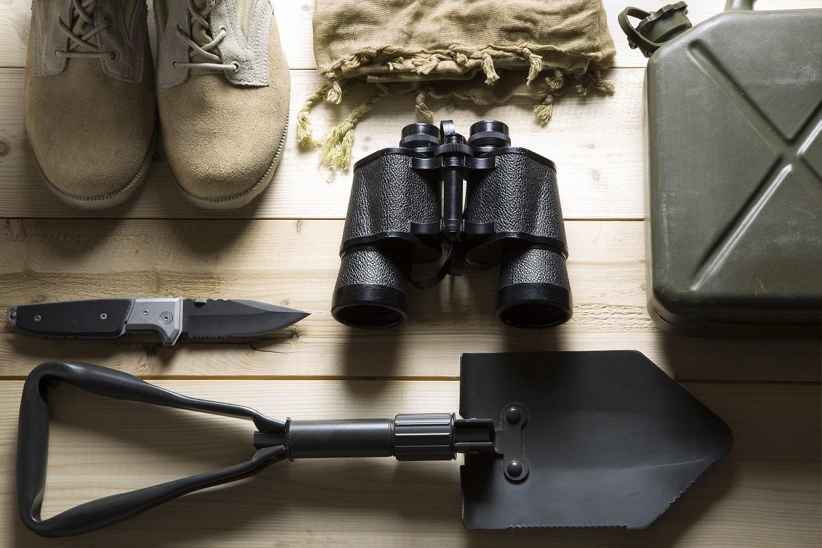 overhead of survival kit