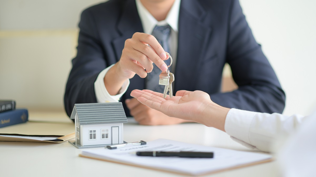 Real estate concept,Customer signing contract about home loan ag